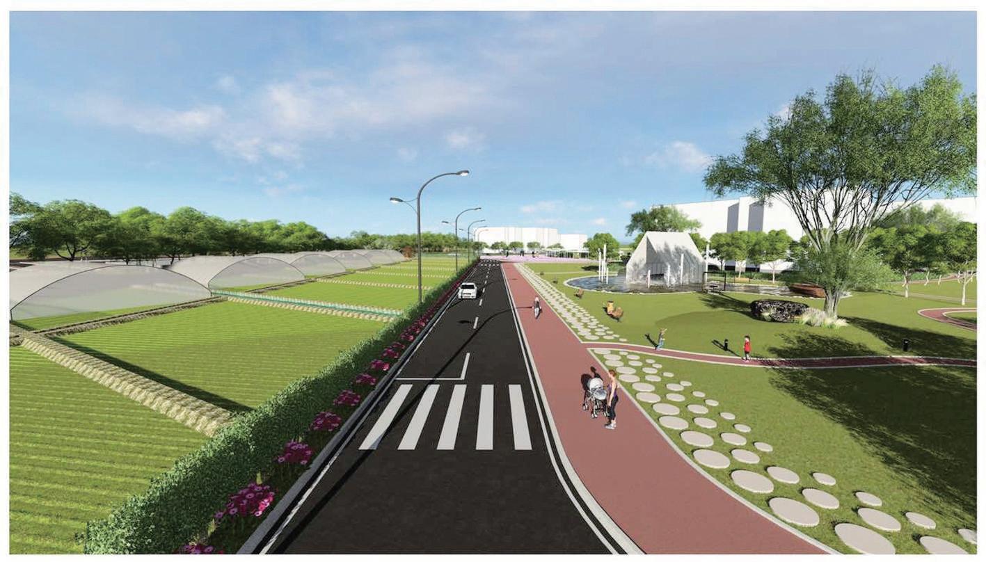 项目建成后,将成为北部商城区域内最大的城市绿地公园.图片
