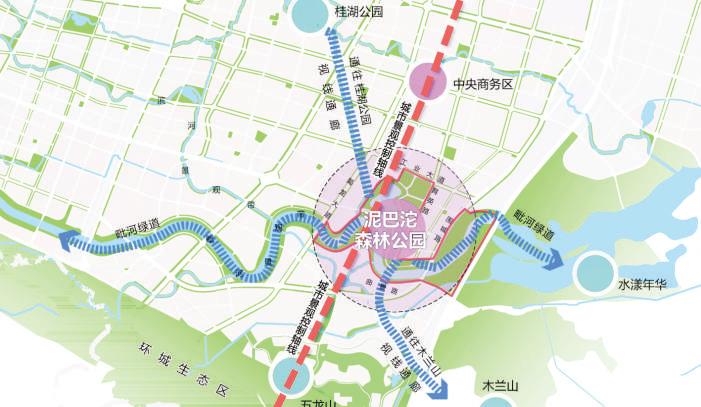 泥巴沱城市森林公园规划效果图.